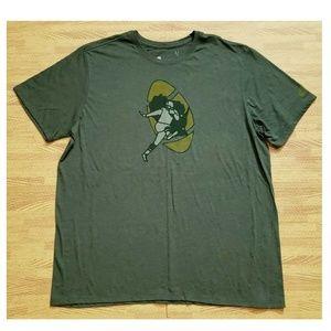 Green Bay Packers Nike Tee Tri-Blend Green Shirt